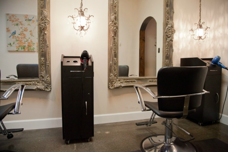 Hairstylist Stations at Bellevue Salon